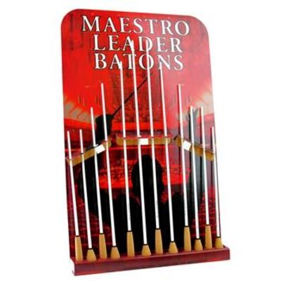 "Standard Wood Conducting Baton - 12"" White Shaft, Pear Shaped Cork Handle - Maestro - TR11B"