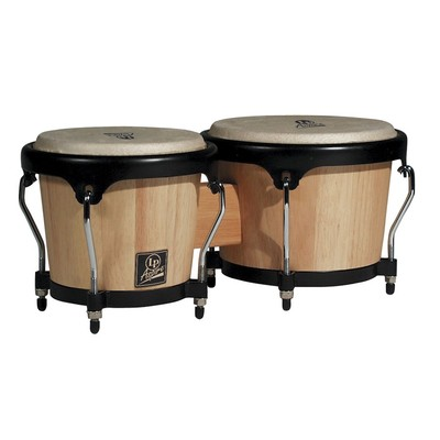 LP LPA601-AW Aspire Wood Bongos - Natural / Black - LP Aspire - LPA601-AW_68495