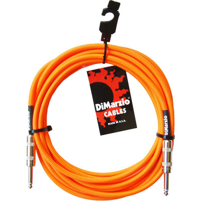 Dimarzio 10ft Overbraid Neon Orange Guitar/Instrument Cable - EP-1710NO - Dimarzio - EP1710 N ORANGE