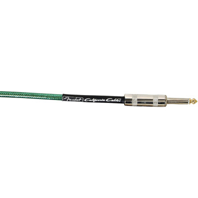 Fender California Instrument Cable - 10', Surf Green - Fender - 099-0510-057