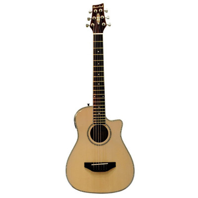 BeaverCreek BCRB501CE Travel Size Acoustic-Electric Guitar - Natural - BeaverCreek Guitars - BCRB501CE