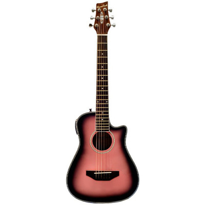 Guitar Acoustic Beaver Creek BCRB501EPB Traveller Pink Burst - BeaverCreek Guitars