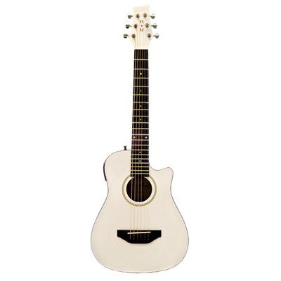 Beaver Creek BCRB501EWT Travel Size Acoustic Guitar - White - BeaverCreek Guitars