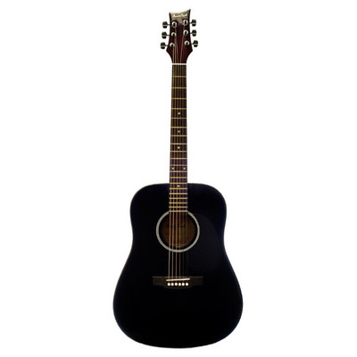 BeaverCreek BCTD101BK Dreadnought Acoustic Guitar - Black - BeaverCreek Guitars - BCTD101BK