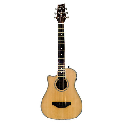 BeaverCreek BCRB501LCE Travel Size Acoustic-Electric Guitar - Natural, Left Handed - BeaverCreek Guitars - BCRB501LCE