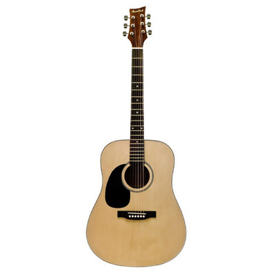 BeaverCreek BCTD101L Dreadnought Acoustic Guitar - Natural, Left Handed - BeaverCreek Guitars - BCTD101L
