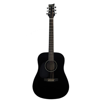 BeaverCreek BCTD101LBK Dreadnought Acoustic Guitar - Black, Left Handed - BeaverCreek Guitars - BCTD101LBK