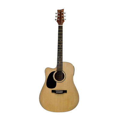 BeaverCreek BCTD101LCE Dreadnought Acoustic-Electric Guitar - Natrual, Left Handed - BeaverCreek Guitars - BCTD101LCE