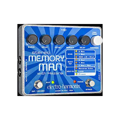 Electro-Harmonix Stereo Memory Man with Hazarai Digital Delay/Looper - Electro-Harmonix - STEREO MEMORY MAN WITH HAZARAI