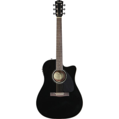 Fender CD-140SCE Dreadnought - Black, Rosewood Fingerboard - Fender - 096-1514-006