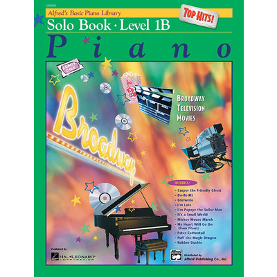 Alfred's Basic Piano Course: Top Hits! Solo Book 1B - Alfred Music - 00-16496