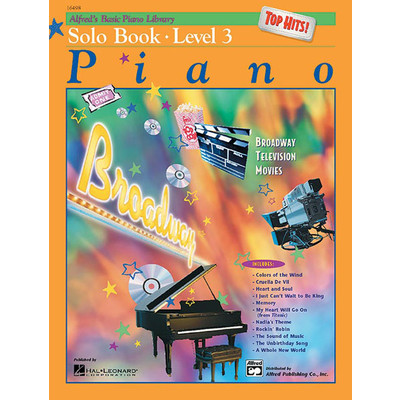 Alfred's Basic Piano Course: Top Hits! Solo Book 3 - Alfred Music - 00-16498