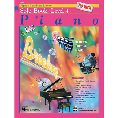 Alfred's Basic Piano Course: Top Hits! Solo Book 4 - Alfred Music - 00-16499