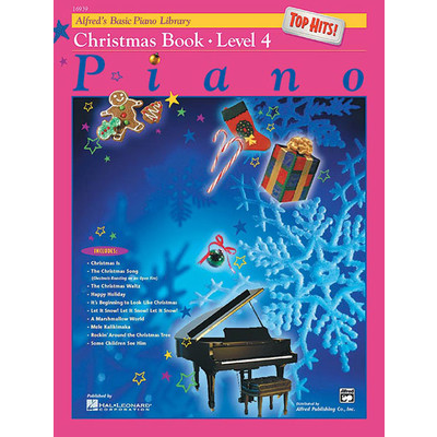 Alfred's Basic Piano Course: Top Hits! Christmas Book 4 - Alfred Music - 00-16939