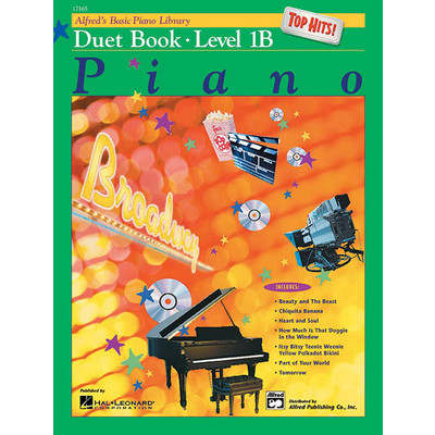 Alfred's Basic Piano Course: Top Hits! Duet Book 1B - Alfred Music - 00-17165