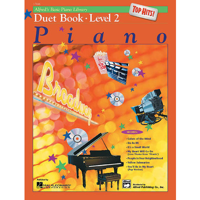 Alfred's Basic Piano Course: Top Hits! Duet Book 2 - Alfred Music - 00-17166