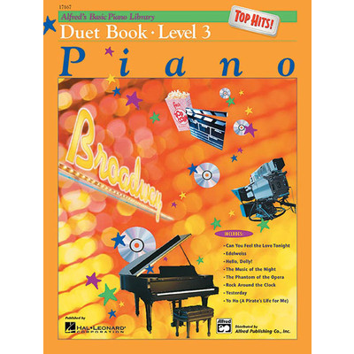 Alfred's Basic Piano Course: Top Hits! Duet Book 3 - Alfred Music - 00-17167