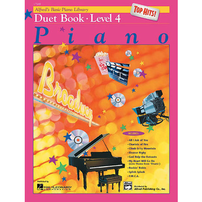 Alfred's Basic Piano Course: Top Hits! Duet Book 4 - Alfred Music - 00-17168