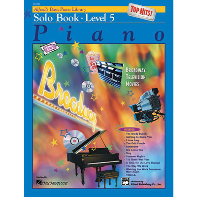Alfred's Basic Piano Course: Top Hits! Solo Book 5 - Alfred Music - 00-19658