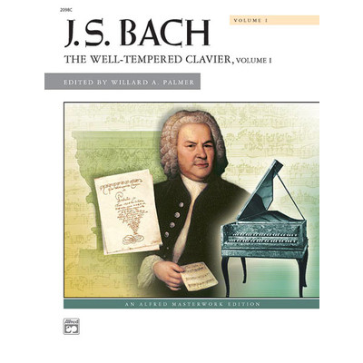 Music Bach Well Tempered Clavier Vol.1 (Masterwork)(PA) - Alfred Music - 00-2098C