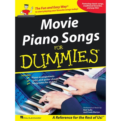 Music Movie Piano Songs for Dummies (PVG)