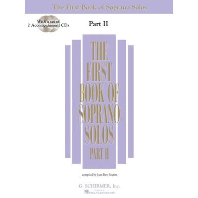 Music 1st Book of Soprano Solos Part 2 w/2CDs (SCH)