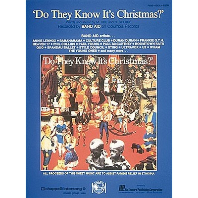 SheetMusic Do They Know Its Xmas (PVG) - Alfred Music - 00303481