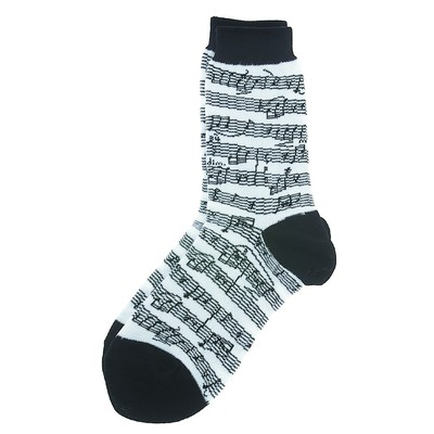 Socks Aim Socks Sh Music Blk/White - Aim - 10004