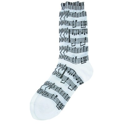 Socks Aim Socks Sh Music/Kybd  White W/ Black - Ladies - Aim - 10047