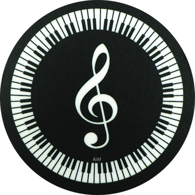 Coaster Aim Vinyl G-Clef Keyboard Round - Aim - 29841