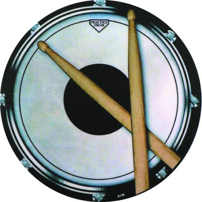 Coaster Aim Vinyl Drum Practice Pad Round - Aim - 29845