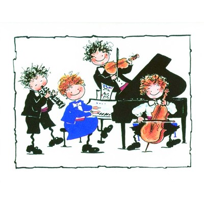 Note Card Aim Chamber Music 8/Pk - Aim - 51803