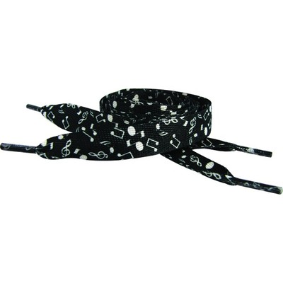 Shoe Laces Aim Black & White Notes - Aim - 6026