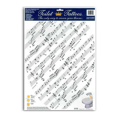 Toilet Tattoo Aim Print Music - Elongated Seats - Aim - 83400
