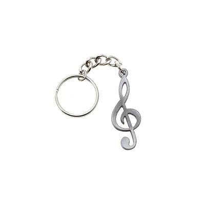 Pewter Music Keychain - G-Clef - Aim - K1200