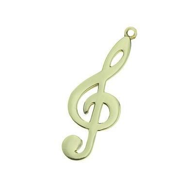 Keychain Aim G Clef Polished Brass - Aim - K81D