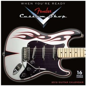 Calendar Fender 2012 Custom Shop Guitar Wall Calendar - Jannex