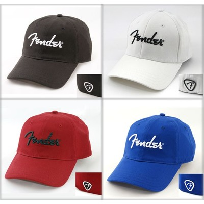 Fender Logo Stretch Cap - Black, L/XL - Fender - 9106000506