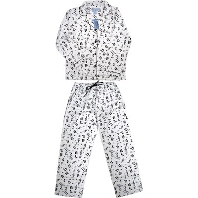 PJ's Aim Flannel w/Music Notes - Small - Aim - 11325S