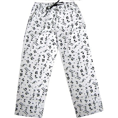 Pants Aim Flannel w/Music Notes - Medium - Aim - 11331M