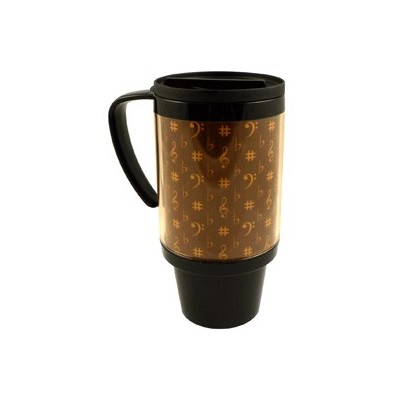 Mug Aim Photo Music French Design Brown/Gold - Aim - 35219