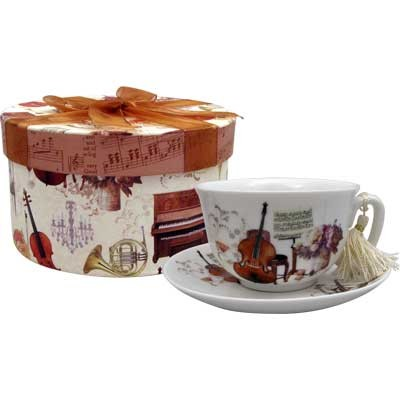 Cup & Saucer Aim Elegant Music w/Gift Box - Aim - 56195