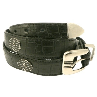 G-Clef Leather Belt - Large - Aim - 6110L