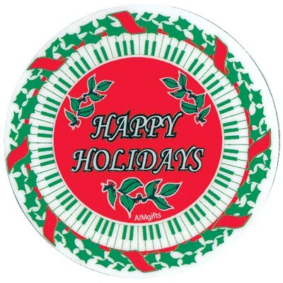 Happy Holidays Keyboard Coaster - Aim - 82469