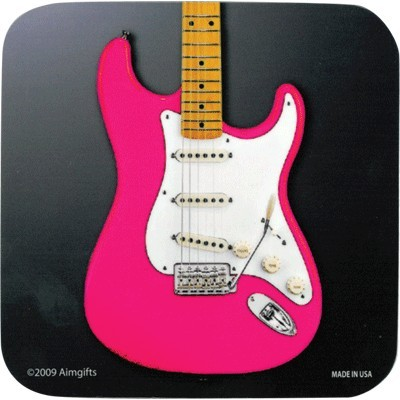 Coaster Aim Vinyl Pink Electric Guitar - Aim - 82806