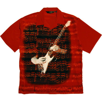 Sheet Music Shirt - Red - XL - Aim - 37207XL