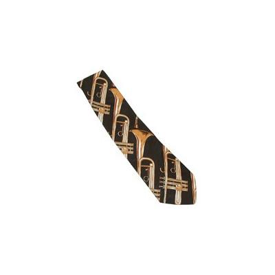 Trumpet Tie on Black - Aim - 6393C