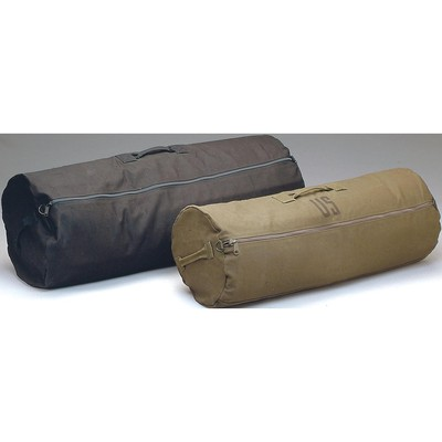 Zippered Canvas Duffle Black