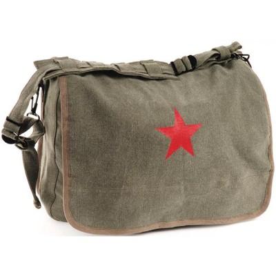 Washed Logo Bag Red Star Olive