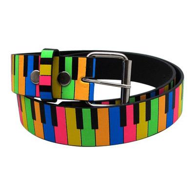 Rainbow Keyboard Belt - Large - Aim - 6147L